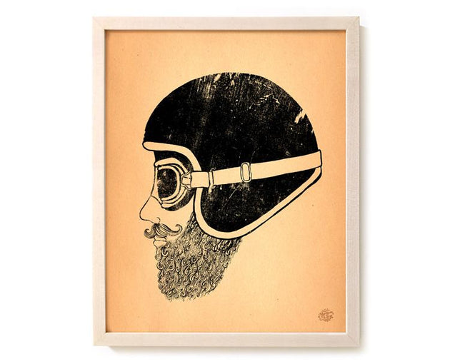 "Motorcycle Art Print ""Moto Head"""