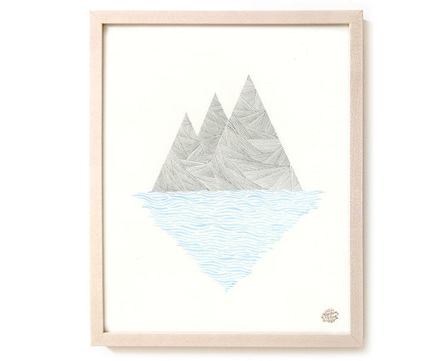 "Limited Edition Modern Art Print ""My Island"""