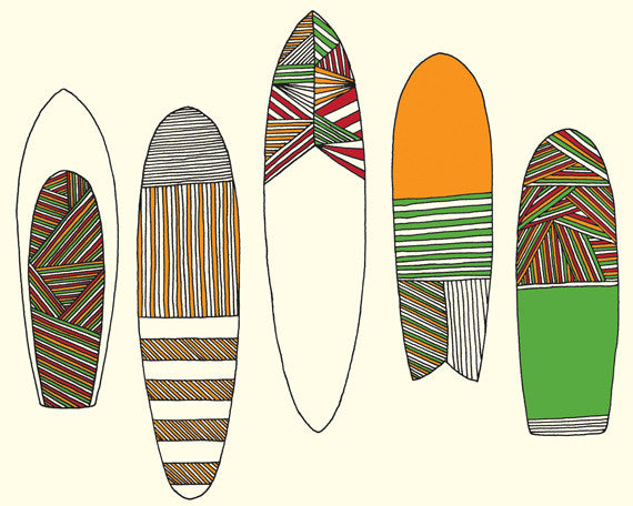 "Limited Edition Surfing Art ""New Friends Surfboards"""