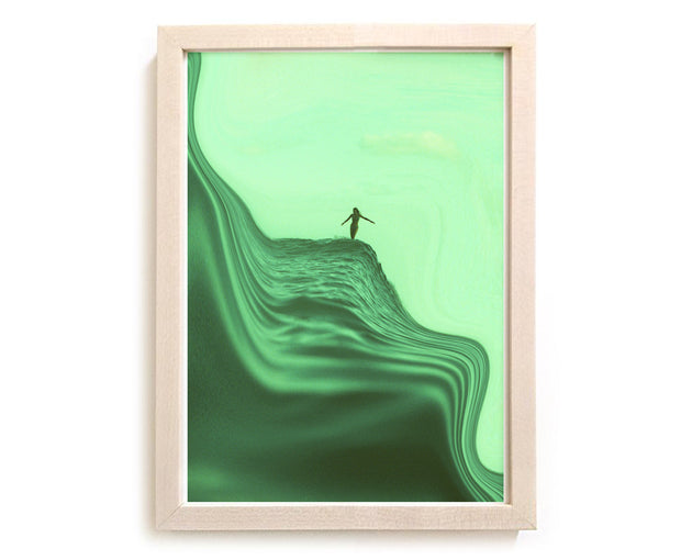 "Limited Edition Beach Art Print ""Our Slippery Slope"" Surreal Surf Series"
