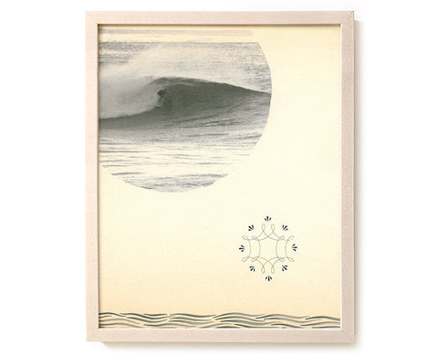 "Limited Edition Surfing Art Print ""The Spirit Of God Over The Water"" - Mixed Media"