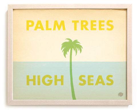 "Limited Edition Beach Art Print ""Palm Trees & High Seas"""