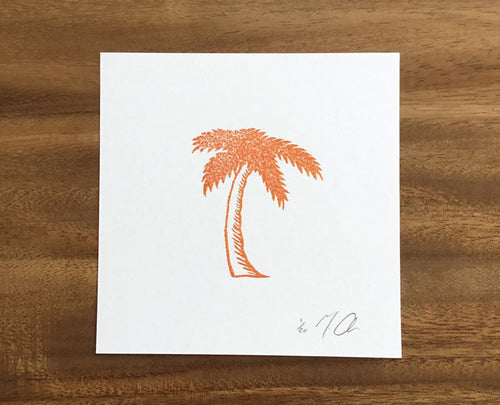 "Limited Edition Linocut Print ""Palm Tree"""