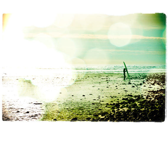 "Framed Limited Edition Surf Photo Print ""Retrieval"" - Borrowed Light Series"