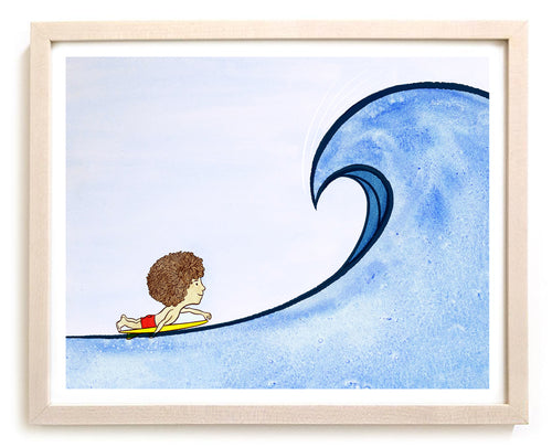 "Mop Rides Art Print ""Set Wave"""