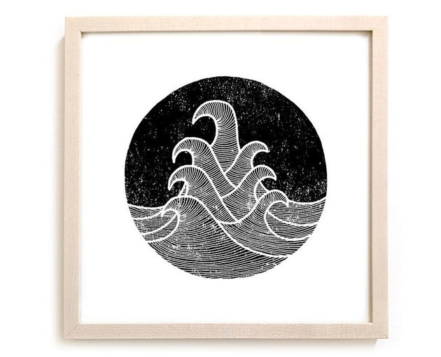 "Surfing Art Print ""Seven Seas"""