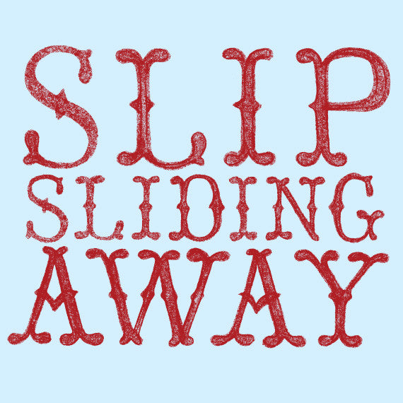 "Surfing Art Print ""Slip Sliding Away"""