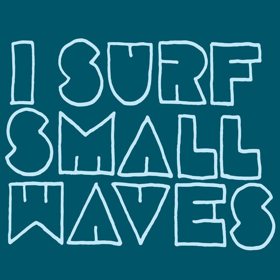 "Surfing Art Print ""Small Waves"""