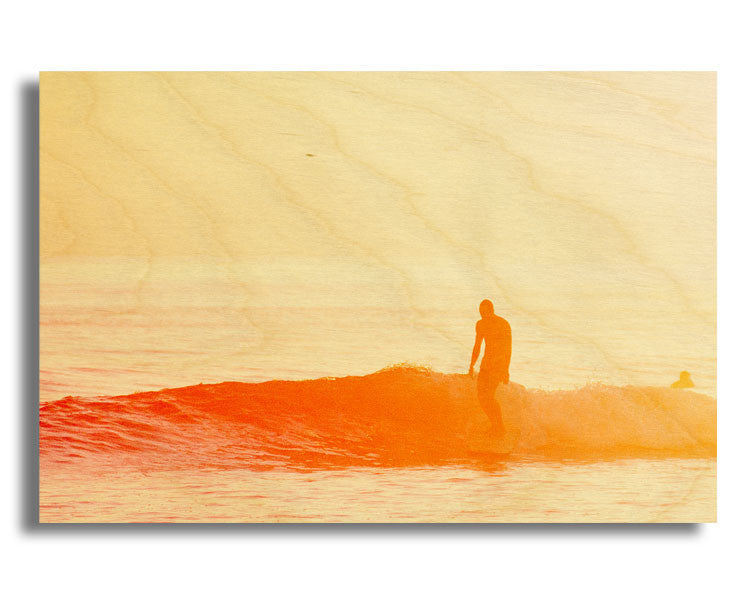 "Surf Art Wood Print Limited Edition ""Summer Fade"""