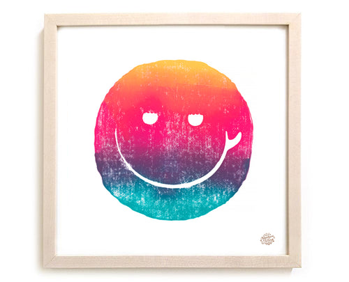 "Surfing Art Print ""Sunset Smile"""
