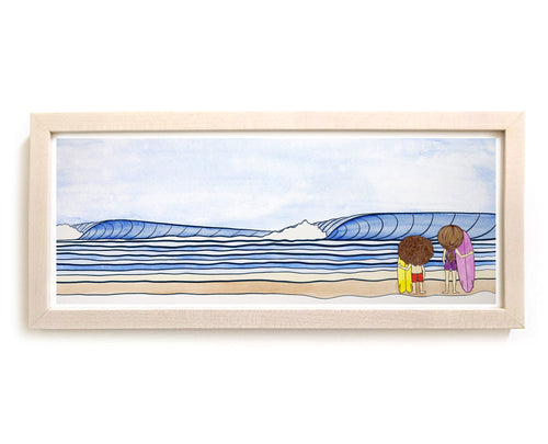 "Mop Rides Art Print ""Surf Check"""