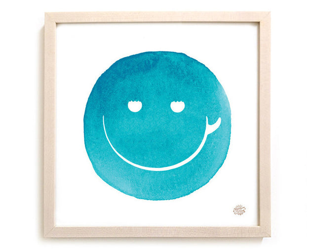 "Limited Edition Surfing Art Print ""Surf Smile"""