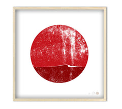 "Limited Edition Surfing Art Print ""Surf Spot-Japan"""