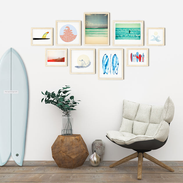 Surfer Gallery Wall