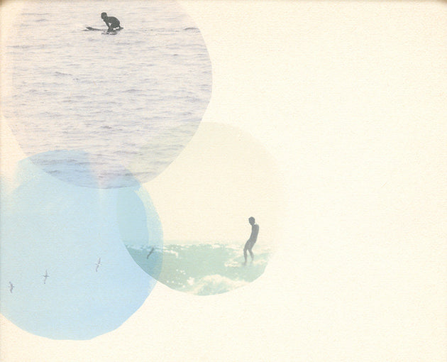 "Surfing Art Print ""There Are Three That Testify"" - Mixed Media"