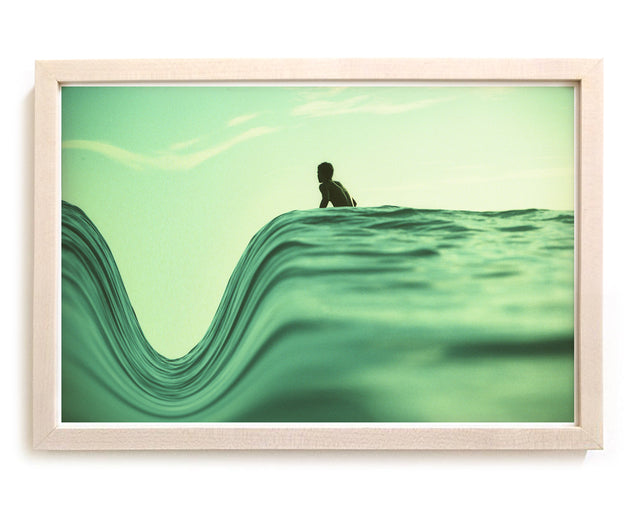 "Limited Edition Beach Art Print ""The Dip"" Surreal Surf Series"