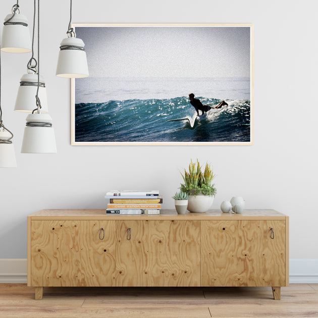 "Surf Art Print ""The Down Line"" Surreal Surf Series"