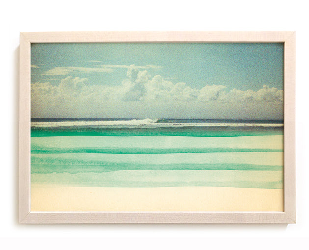 "Surfing Art Print ""The Far Shore"" - Mixed Media"