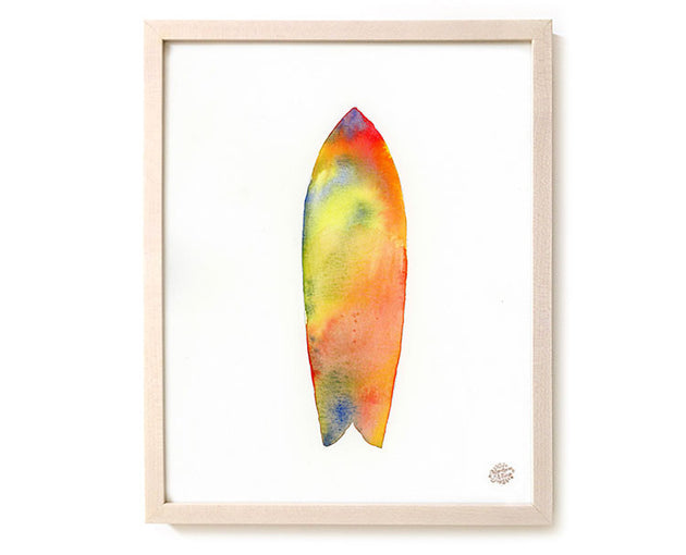 "Limited Edition Watercolor Surf Art Print ""Towards Summer"""
