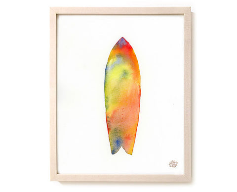 "Watercolor Surf Art Print ""Towards Summer"""