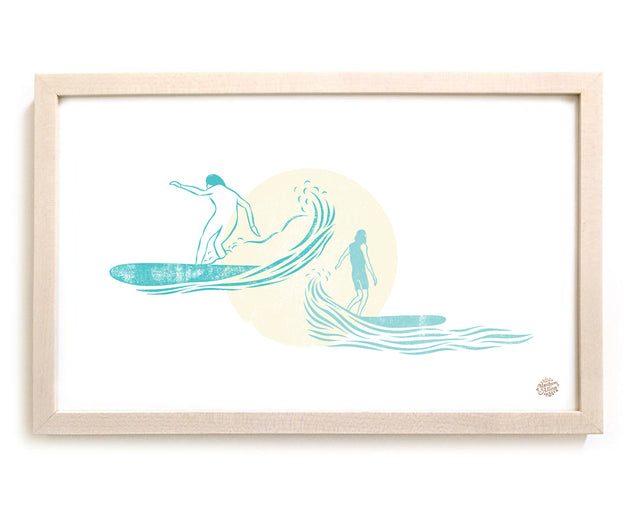"Limited Edition Surfing Art ""Trading Waves"""