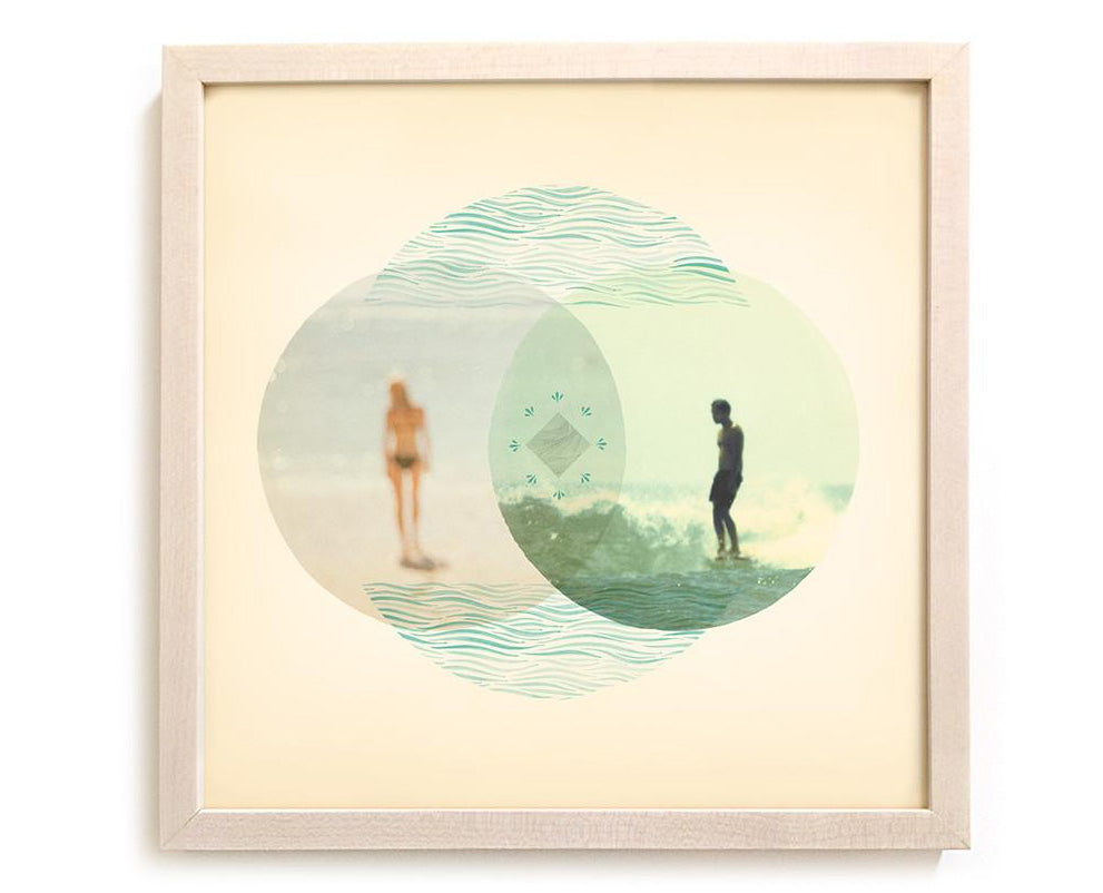 "Surfing Art Print ""Union"" - Mixed Media"