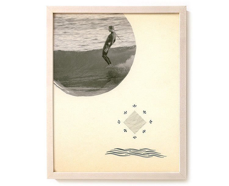 "Limited Edition Surfing Art Print ""Walk By The Spirit"" - Mixed Media"