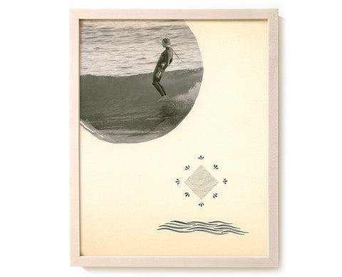 "Surfing Art Print ""Walk By The Spirit"" - Mixed Media"