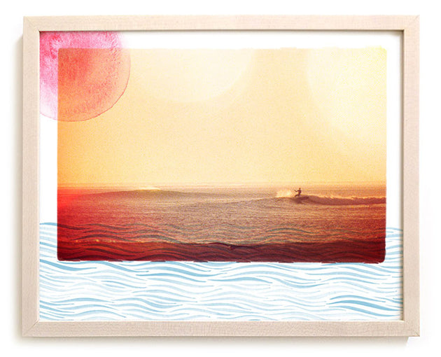 "Limited Edition Surfing Art Print ""Waterways"" - Mixed Media"
