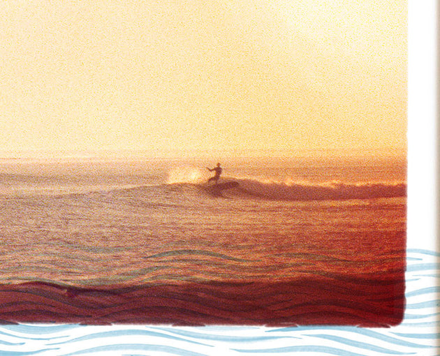 "Surfing Art Print ""Waterways"" - Mixed Media"