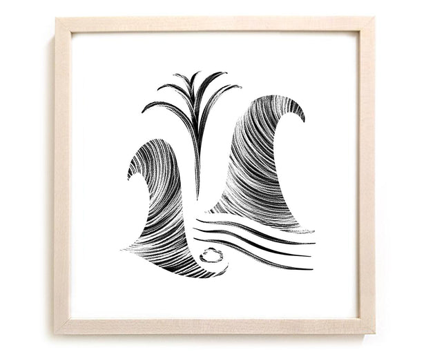 "Limited Edition Contemporary Art Print ""Wave Garden"""