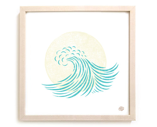 "Surfing Art Print ""Wave Sun"""