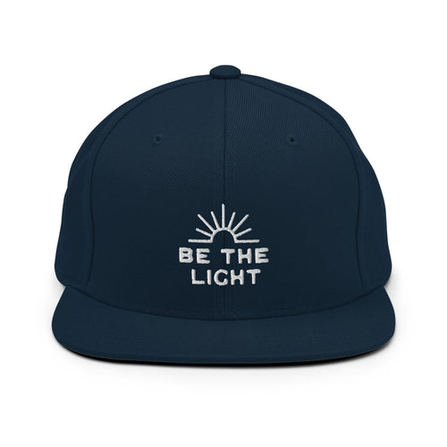 Be The Light Embroidered Men's Snapback Hat
