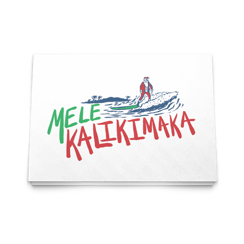 Mele Kalikimaka 5x7 Greeting Card