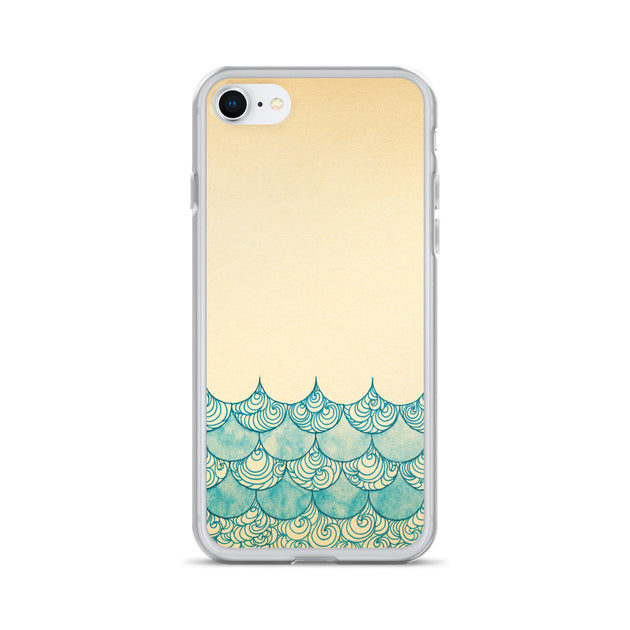 Sedate Sea Surf iPhone Case