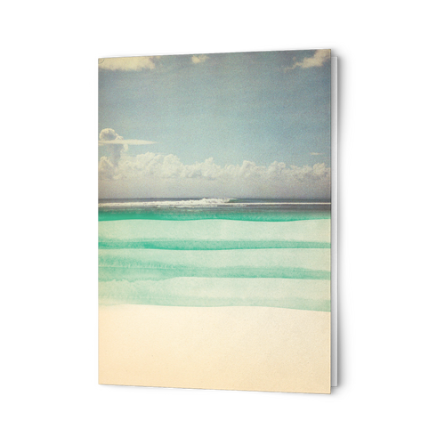 Green Shore Greeting Cards