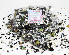 Black and Gold Stardust - Colorful Paper Confetti