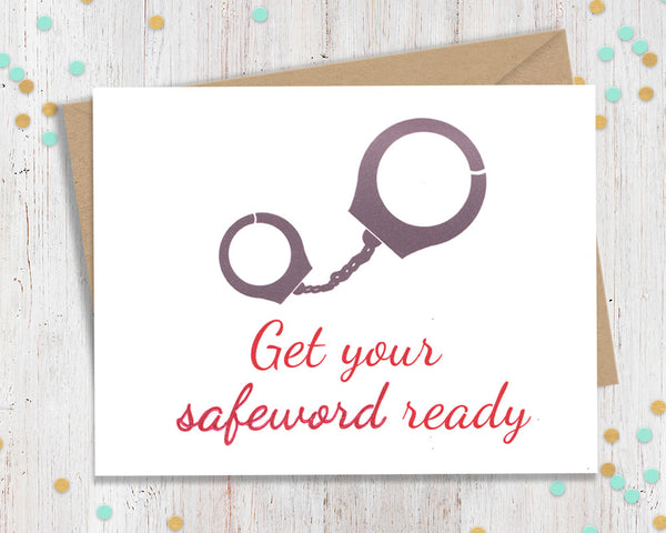 Get your safeword ready - kinky card