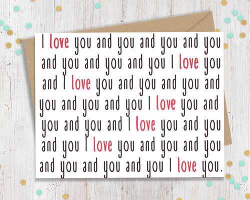 I love you and you - Polyamorous Greeting Card