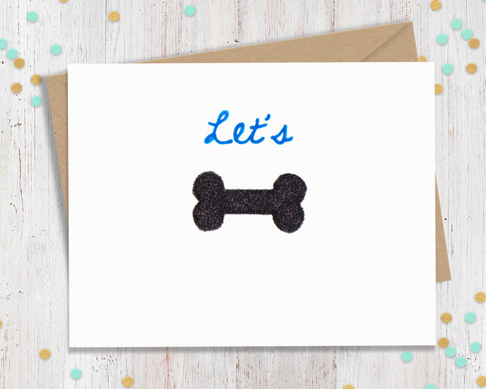 Lets Bone Funny Greeting Card Fourletterwordcards