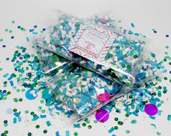 Teal and Pink Shimmer- Colorful Paper Confetti