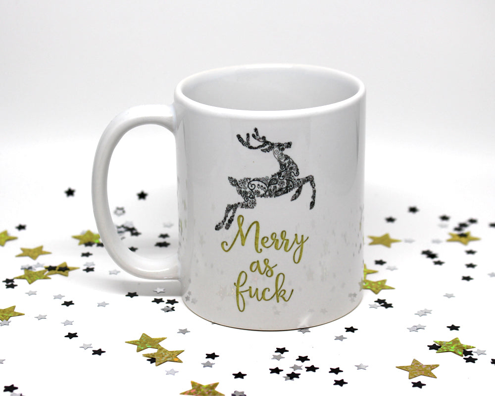 Merry As Fuck Holiday Coffee Mug