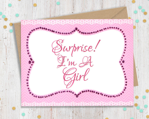 Surprise, I'm a girl! Transgender Support Card