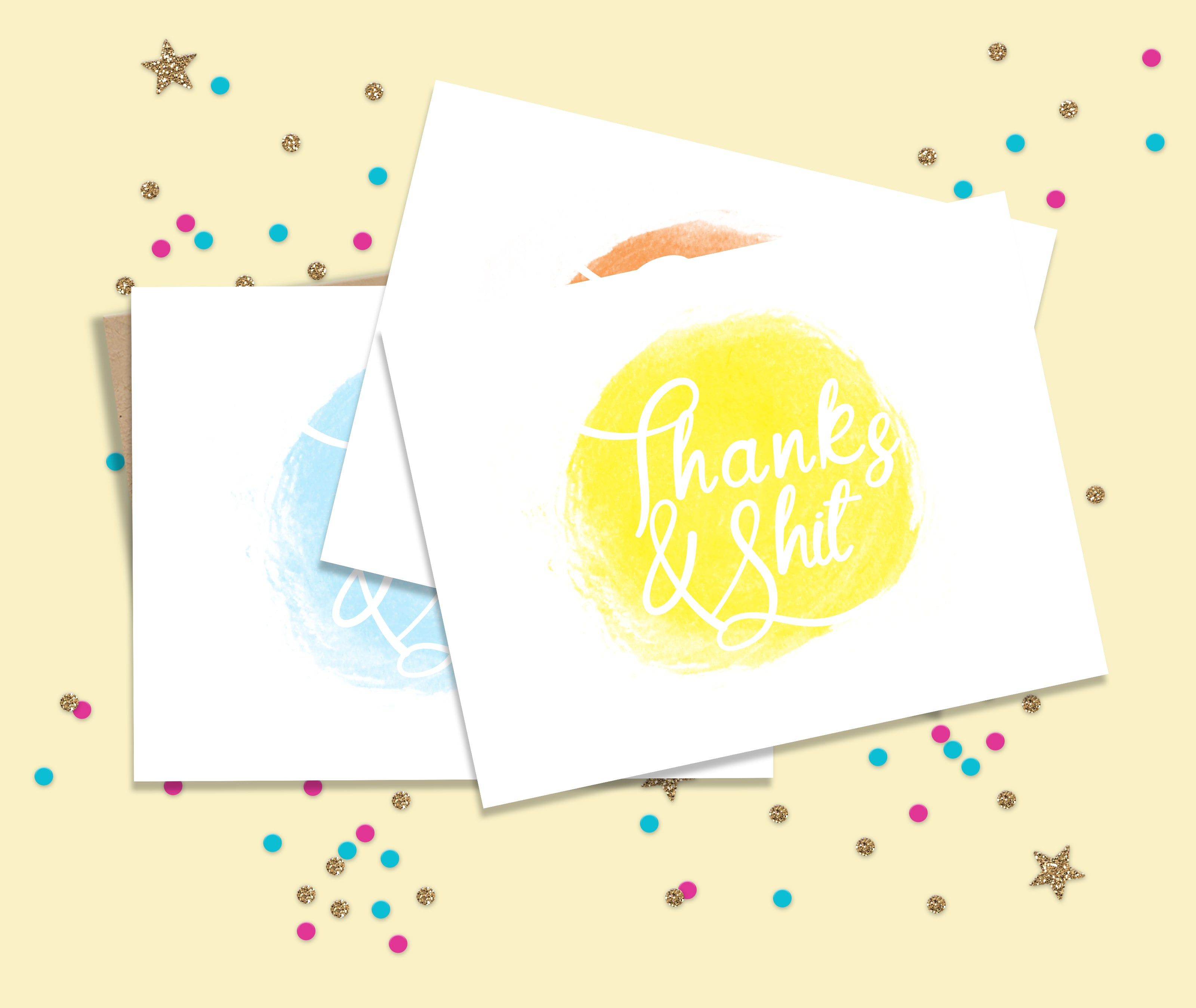 Thanks and Shit Thank You Card Set
