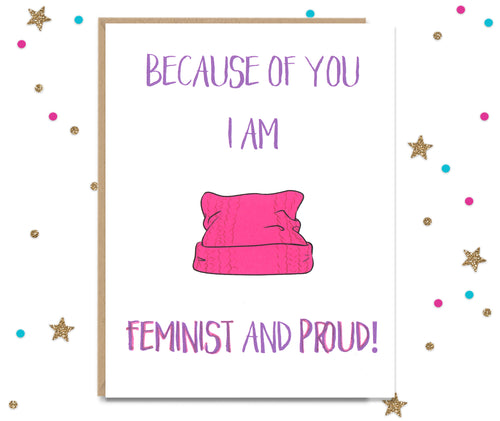 Feminist and Proud - Mother and Father's day card