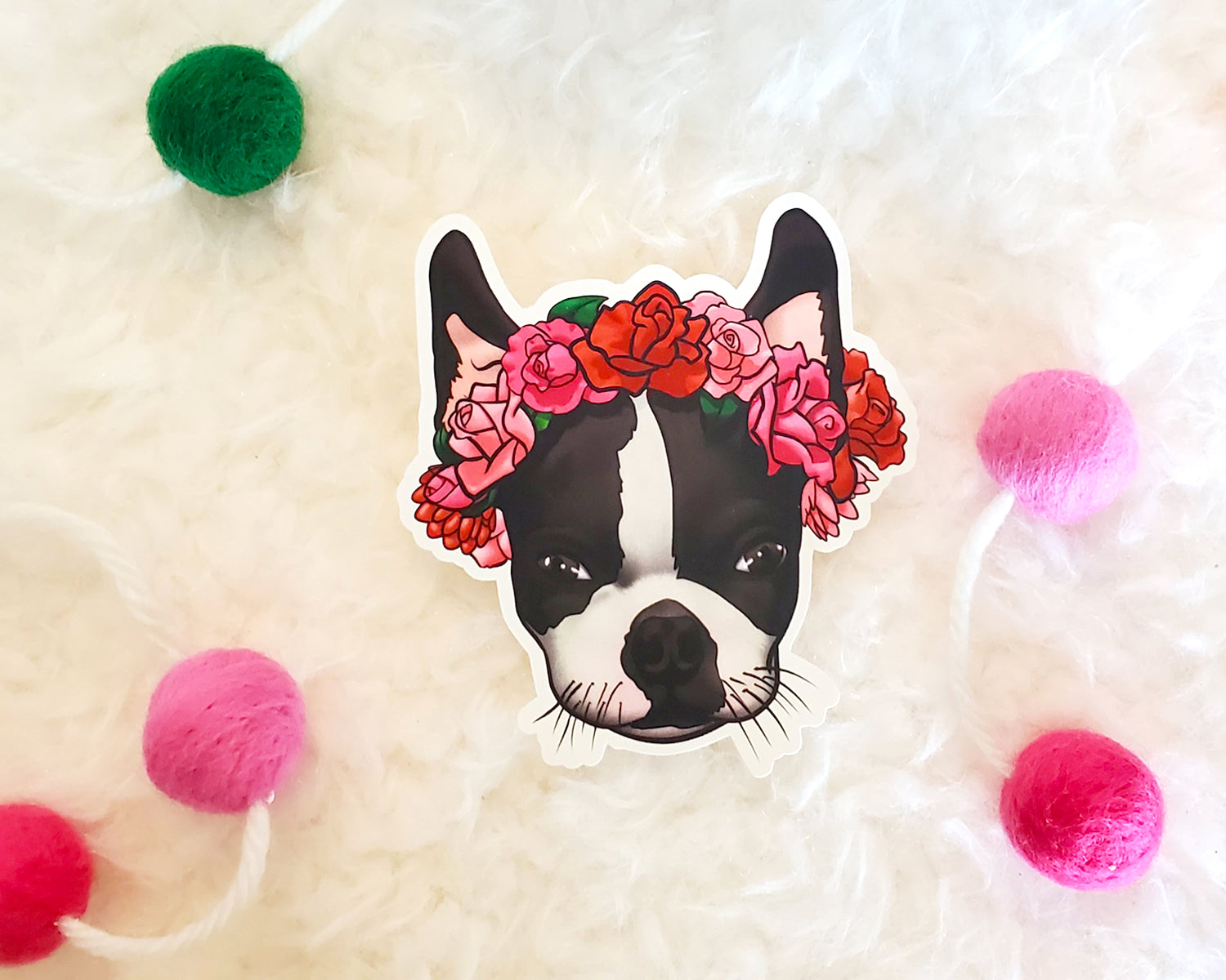 Boston Terrier Vinyl Sticker - BLACK