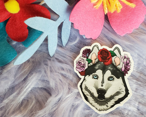 Husky Vinyl Sticker - Black