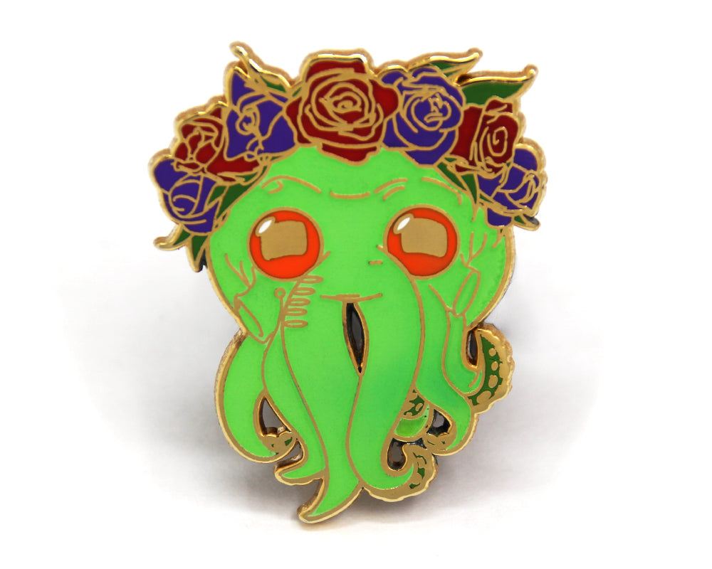 SECOND SALE Glow in the dark Cthulhu Enamel Pin