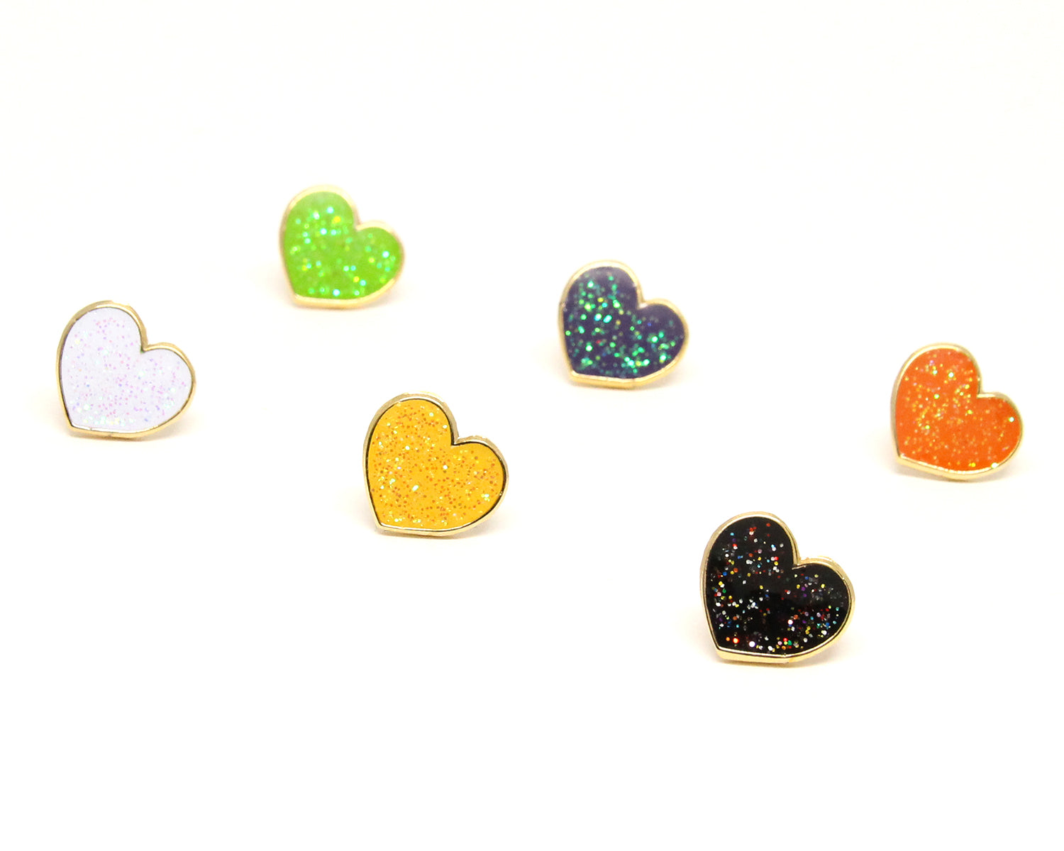 Mini Halloween Heart Enamel Pins Pack
