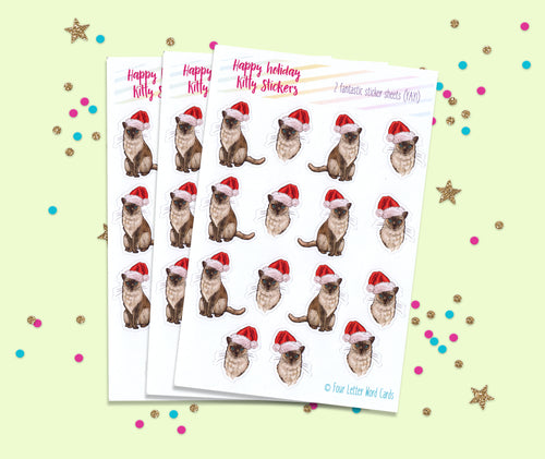 Holiday Cat Stickers